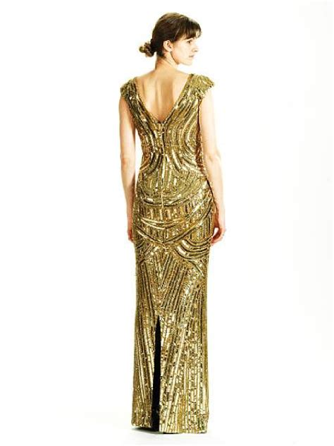 an mcqueen gold sequined dress from the a w 2007