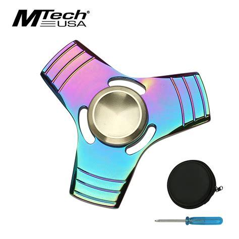 Fidget Spinner Mechanical 4 Gear Premium High Quality fidget spinner high quality square rainbow titanium