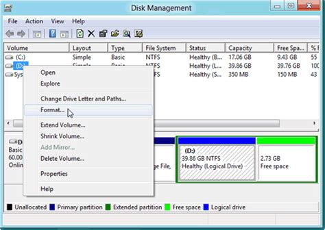 diskpart format block size how to format hard drive partition in windows 8 with free