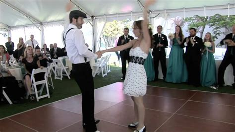 wedding swing dance shaun shannon s surprise wedding swing dance youtube