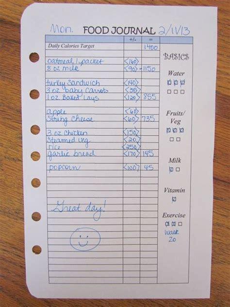 mini printable food journal printable food diary for the home pinterest