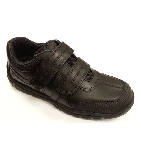 boys shoes quarry black leather boys velcro shoe