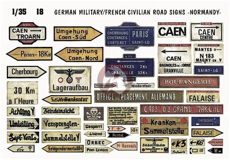 printable french road signs verlinden 1 35 german military french civilian road