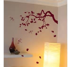sticker cerisier japonais d 233 co murale salon zen