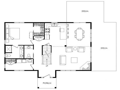 Open Floor Plans With Walkout Basement | log home plans with open floor plans log home plans with