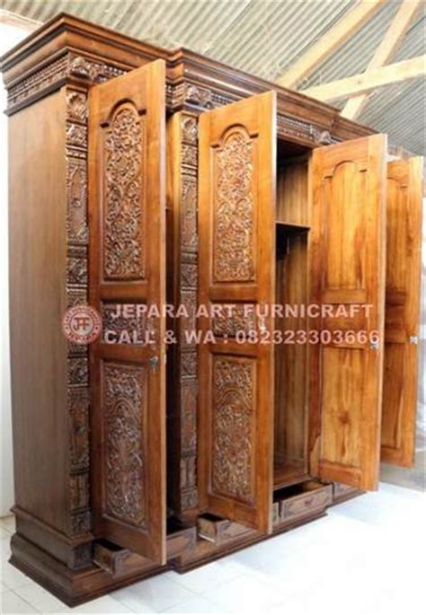 Lemari Ukir Khas Palembang recomended lemari pakaian jati ukir gebyok