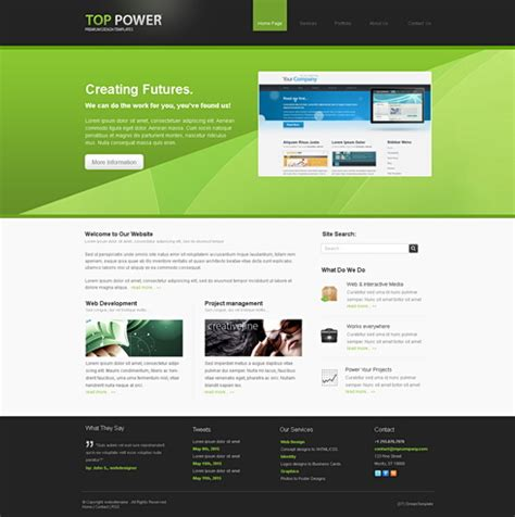 templates of website in html toppower 3d css template 3d cuber css templates