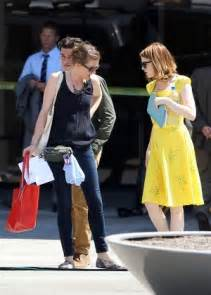 emma stone la la land yellow dress emma stone in yellow dress on la la land set in la