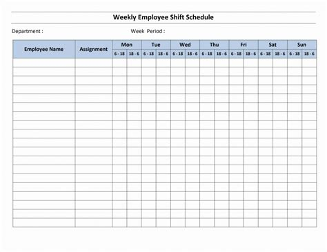 daily shift schedule template weekly hourly calendar template calendar template 2016