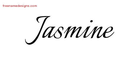 jasmine tattoo font calligraphic name tattoo designs jasmine download free