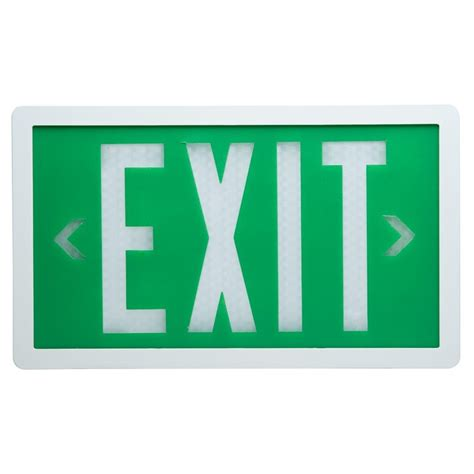 Exit Sign by Led Exit Signs Battery Powered Exit Signs The Exit