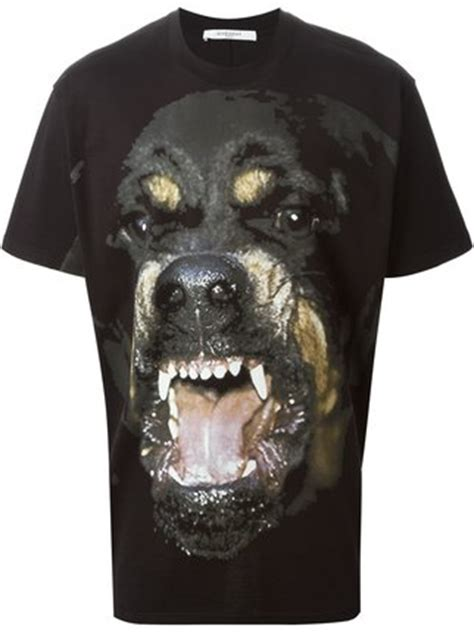 Baju Anjing T Shirt I Bark At givenchy rottweiler print t shirt farfetch