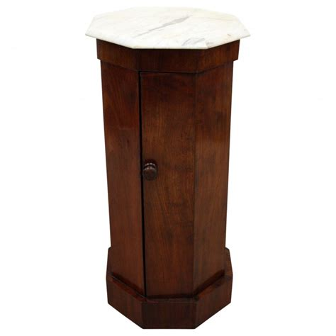 Pedestal Locker mahogany octagonal pedestal locker georgian antiques