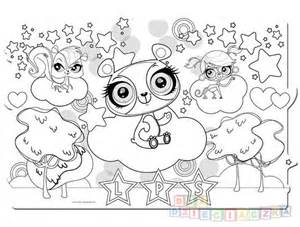 Littlest Pet Shop Coloring Pages To Print Sketch Page sketch template
