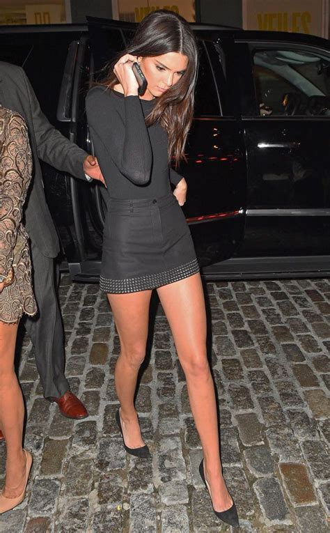 As Seen In Legs Are Instyle by Leggy Kendall Jenner Struts Stuff In The Big