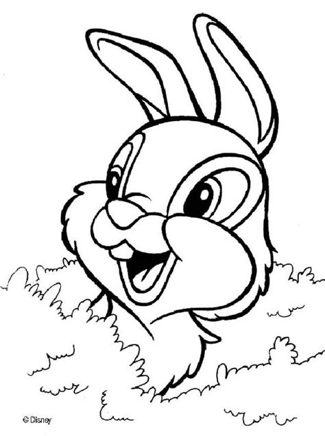 thumper coloring pages for kids