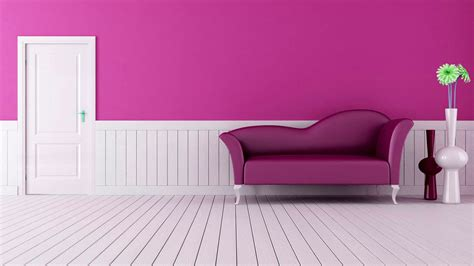 modern sofa pink interior design wallpapers wallpapers