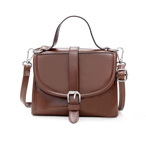 Small Patent Bay Shoulder Bag by Korea Small Bag 2018 New Winter Retro Chic Glossy