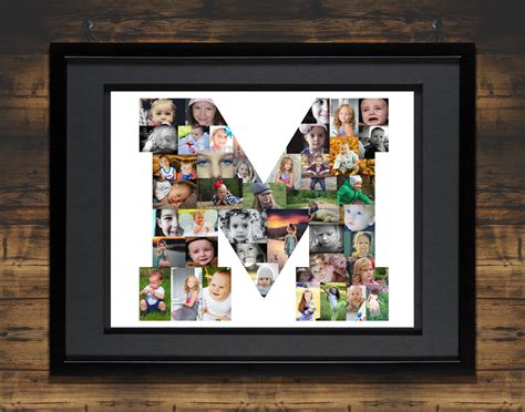 letter photo collage premium hand crafted photo collages