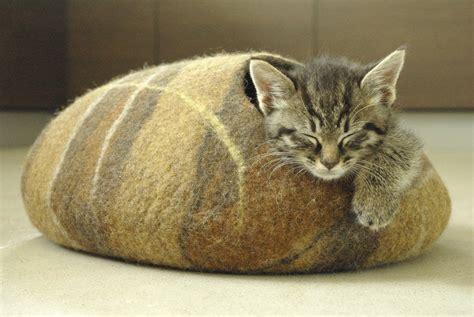 cat cave bed adorable cat beds fubiz media