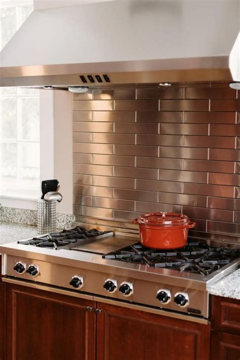 25 trendy metal kitchen backsplashes to try digsdigs