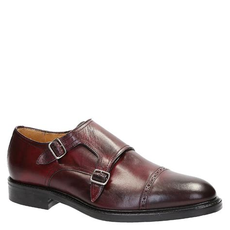 Handmade Leather Shoes Australia - handmade monk shoes in burgundy leather fruugo