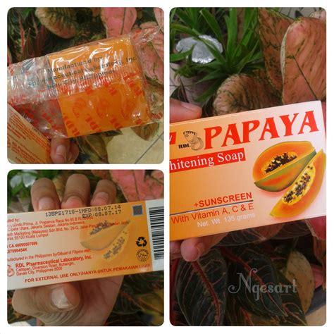 Sabun Temulawak Pepaya ngesart review sabun rdl papaya whitening soap