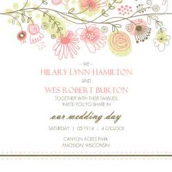 wedding invites spring floral border wedding invitation