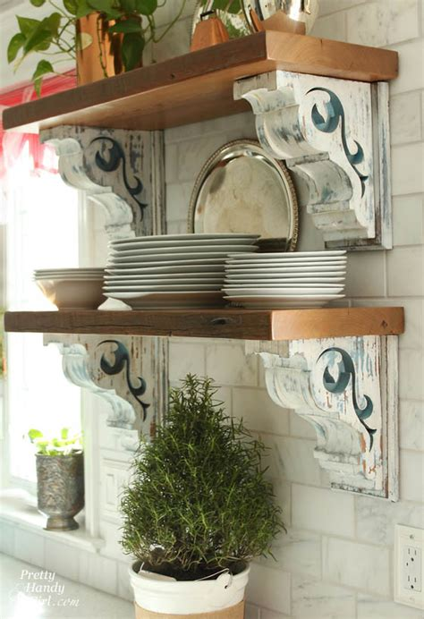 corbels in the kitchen kitchen ideas pinterest 10 clever uses for corbels tidbits twine