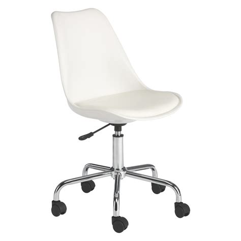 White Desk And Bookcase Ginnie White Office Chair With Upholstered Seat Buy Now