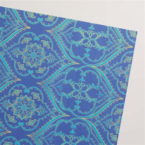 Handmade Wrapping Paper - blue curve handmade wrapping paper rolls set of 2