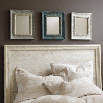 Crown Molding Headboard Bateau Wood Mirror Ballard Designs This Antique Gray Blue And White Mirrors With This Crown