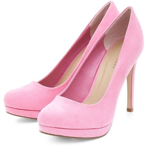 neon pink platform court shoes 41 cad liked on polyvore