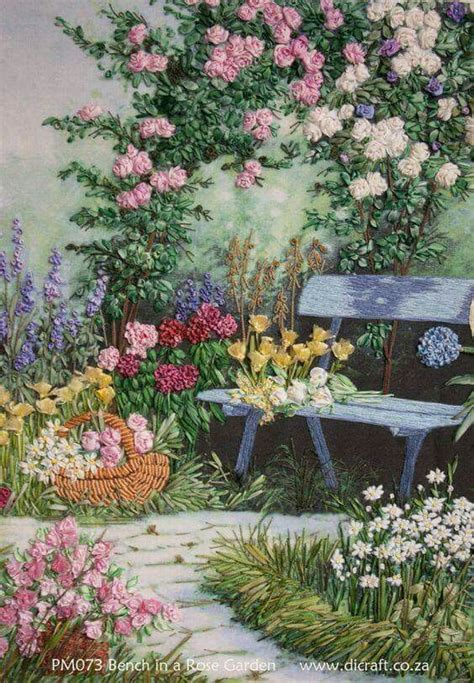 454 Best Images About Ribbon Embroidery On Pinterest Ribbon Embroidery Flower Garden