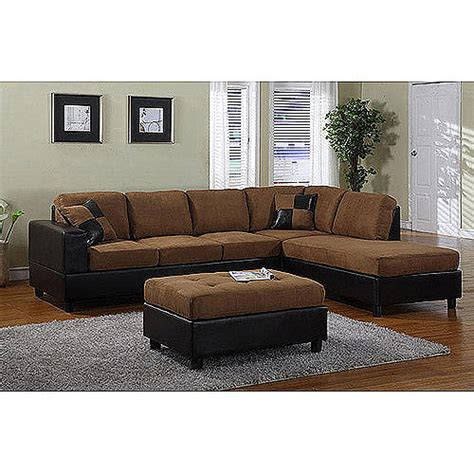 sectional couch walmart dallin sectional sofa saddle walmart com