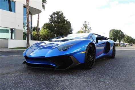 Blue Lamborghini For Sale 2016 Lamborghini Aventador Aventador Sv In Blue Nethus For
