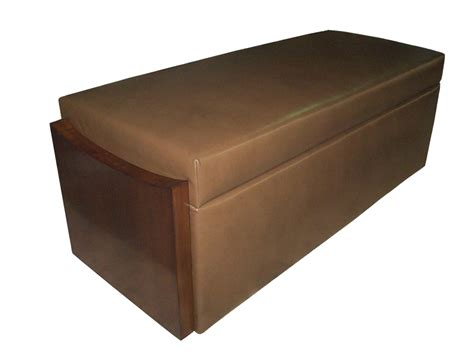Covered Storage Bench Product Details Custom Leather Storage Bench