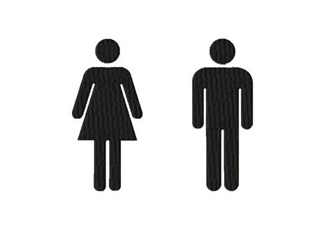 man and woman in bathroom woman and man bathroom sign figures for gold members daily embroidery