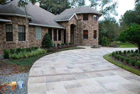 driveway curb appeal concrete designs florida winter park driveway with