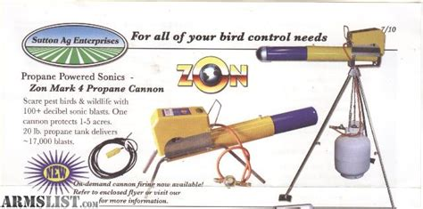 armslist for sale sutton zon mark 4 propane bird cannon