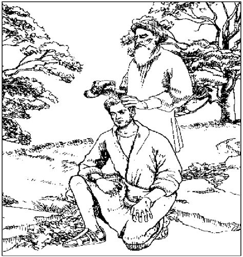 coloring page saul becomes king calvary kids coloring pages coloring home