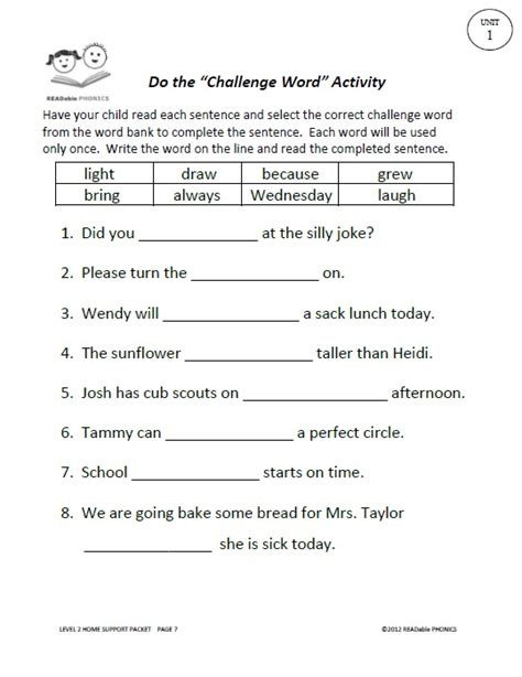 Second Grade Language Arts Worksheets by Readable Phonics Readable Phonics Second Grade Language