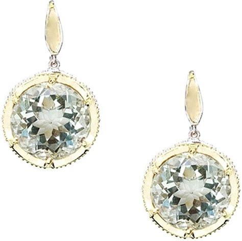 tacori 18k925 prasiolite earrings se104y12