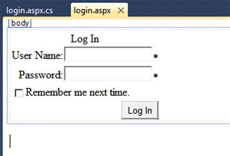 login control layout template asp net asp default login form using c asp with arka asp net