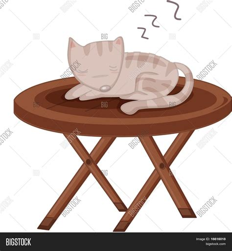 cat table illustration cat sleeping on table image photo bigstock