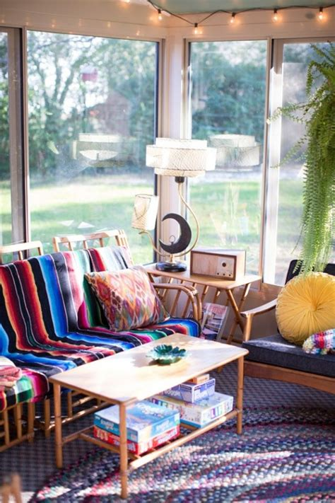 40 beautiful pictures of bohemian style to decorate your room 23 beautiful boho sunroom design ideas digsdigs