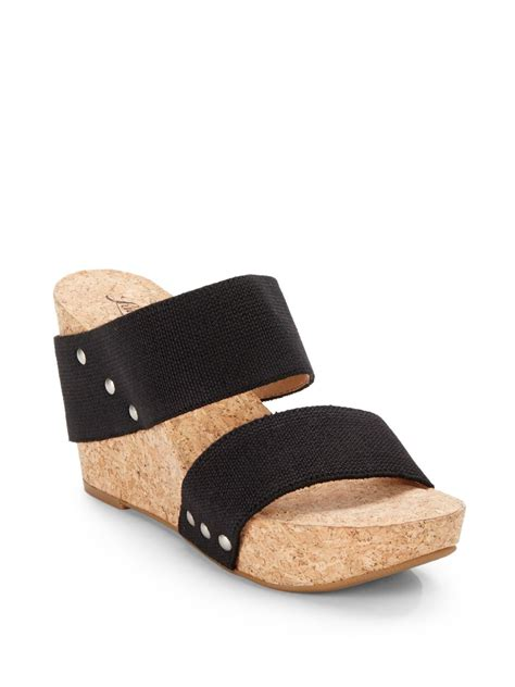 lucky brand wedge sandals lucky brand silvertone magnolia2 woven cork wedge