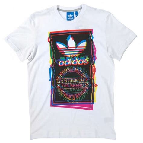 Tshirt Adidas Pattren adidas originals test pattern t shirt white mens