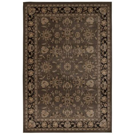 Area Rugs Overstock Nourison Overstock Ararat Grey 3 Ft 9 In X 5 Ft 9 In Area Rug 255006 The Home Depot