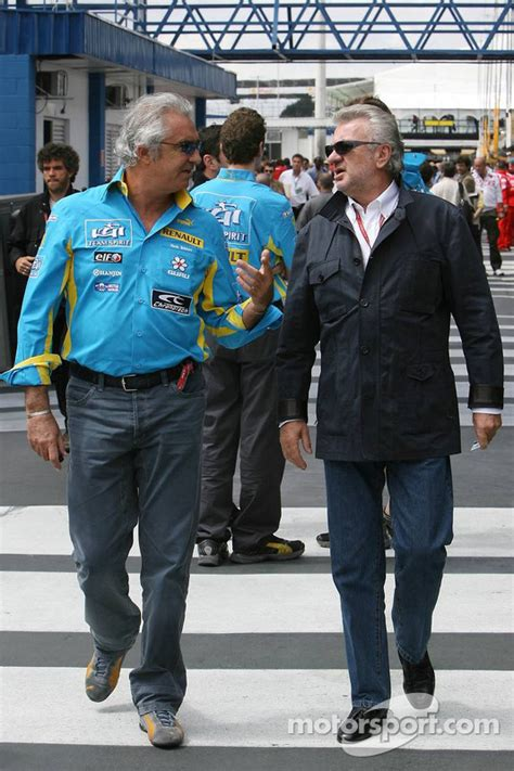 Flavio Briatore and Willi Weber at Brazilian GP